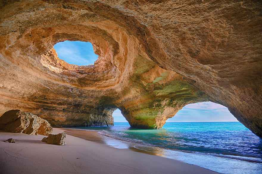 cave beach algarve portugal