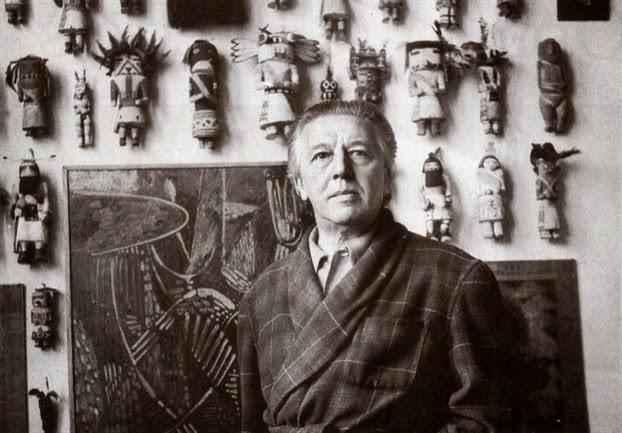 Ο Αντρέ Μπρετόν στο εργαστήριό του το 1958