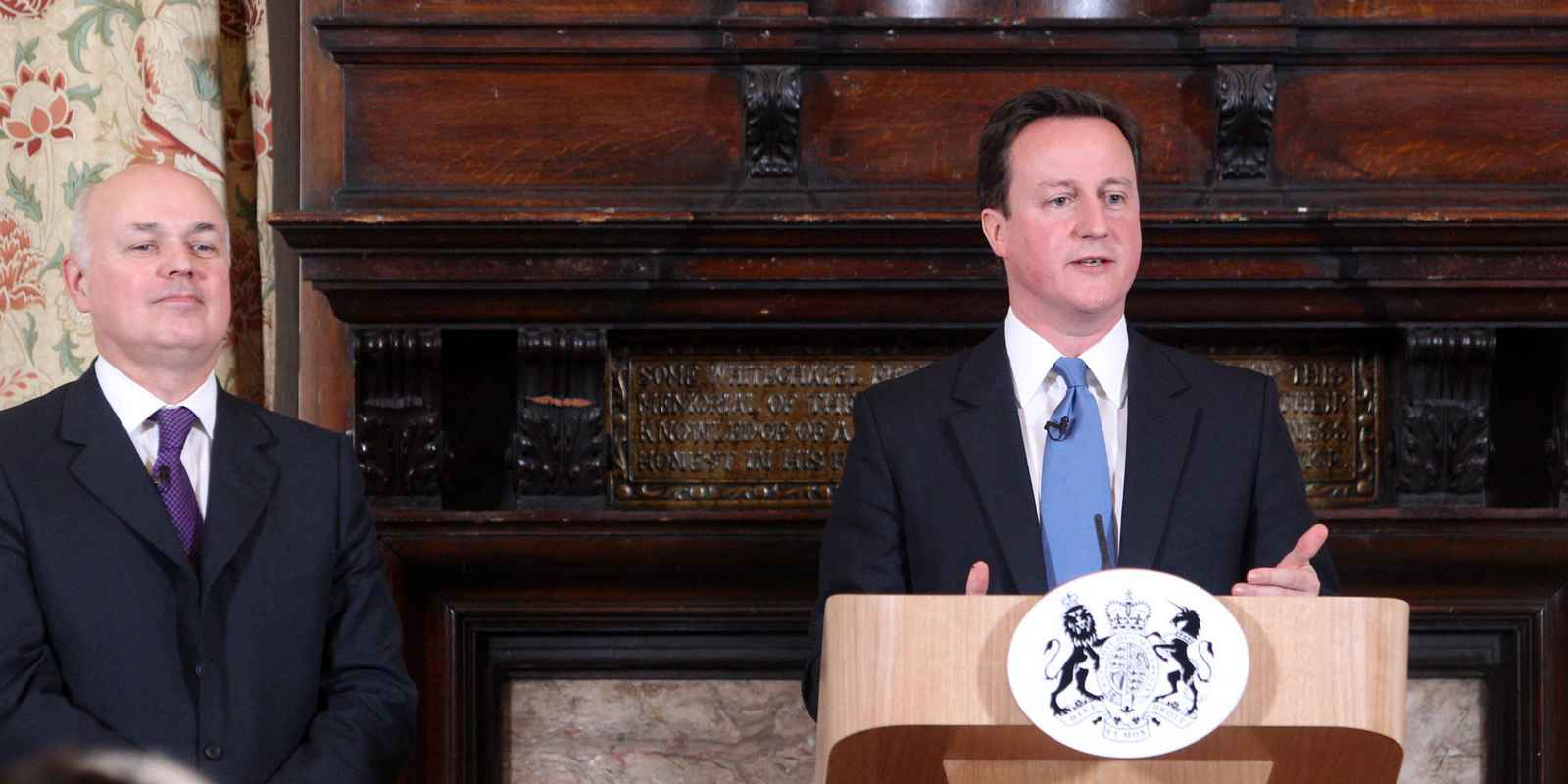 Prime Minister David Cameron Visits East London To Make A Speech On Welfare