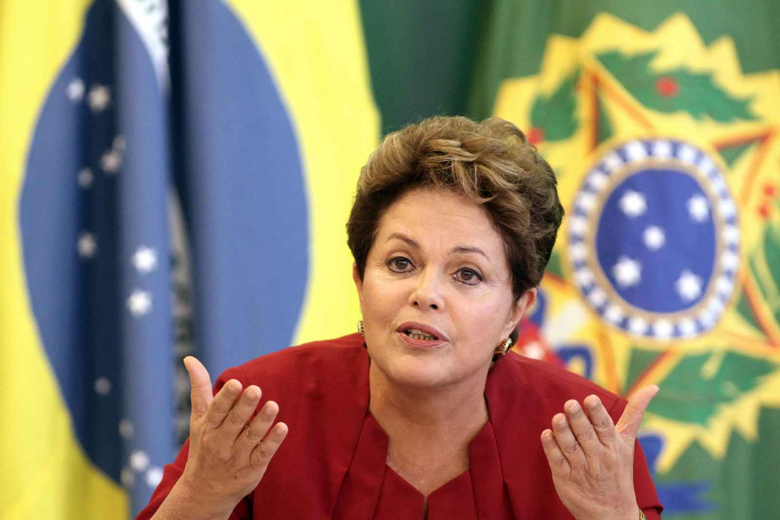 Brazil's President Dilma Rousseff speaks during a breakfast meeting with reporters at the Planalto presidential palace in Brasilia, Brazil, Thursday, Dec. 27, 2012. (AP Photo/Eraldo Peres) Brazil Rousseff