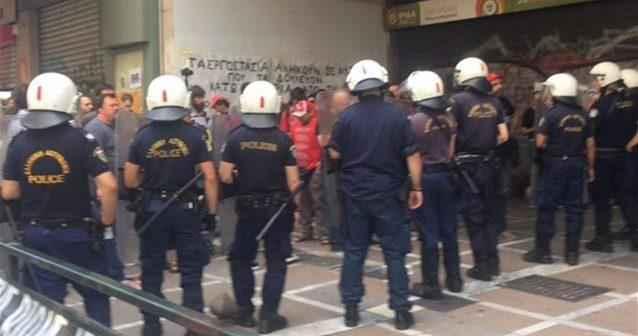 Άγρια καταστολή κατά της ΒΙΟΜΕ στο Υπουργείο Εργασίας
